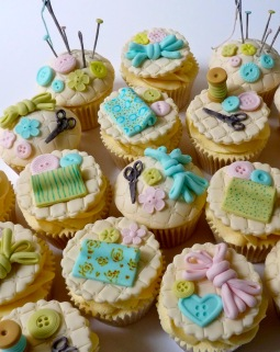 Sewing themed cupcakes