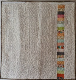 Coin quilt throw - back