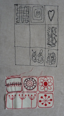Free-motion embroidery exercises