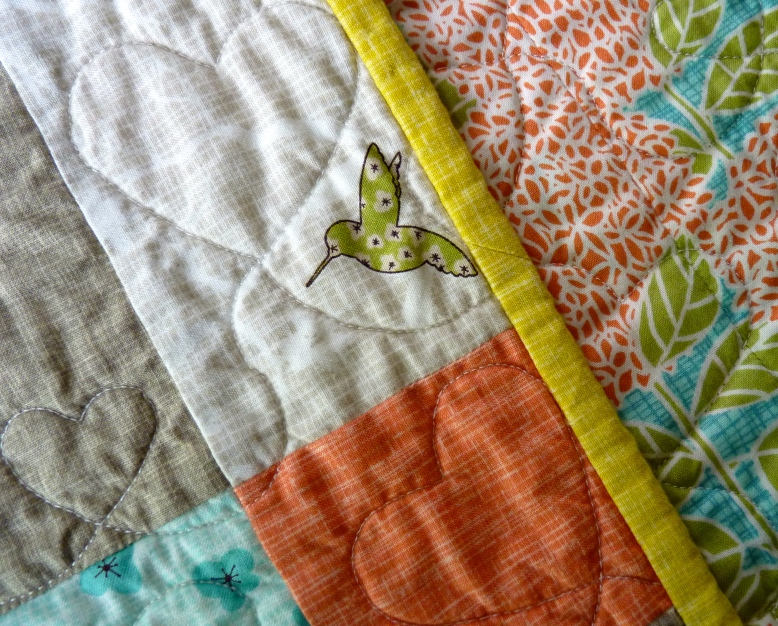 Continuous quilt binding