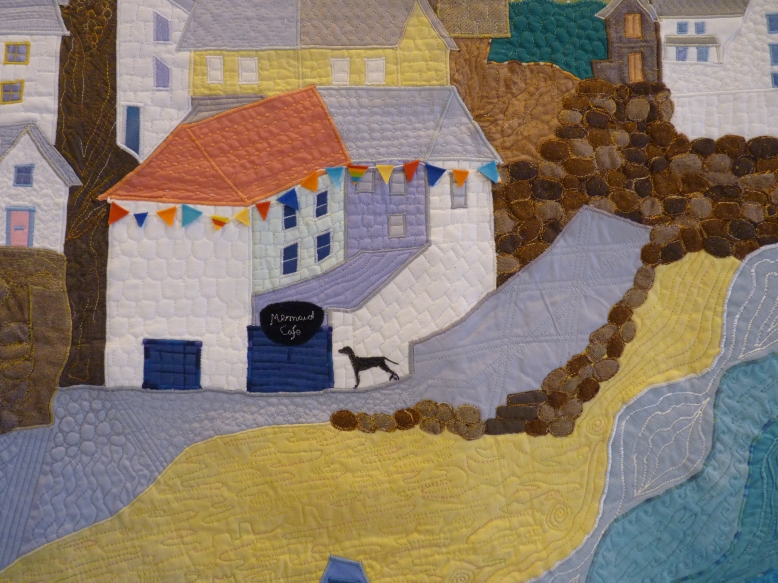 Quilt 60 - Good Morning Gorran (detail) by Brenda Thomas
