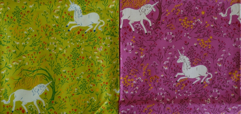Unicorn fabric from Far Far Away collection
