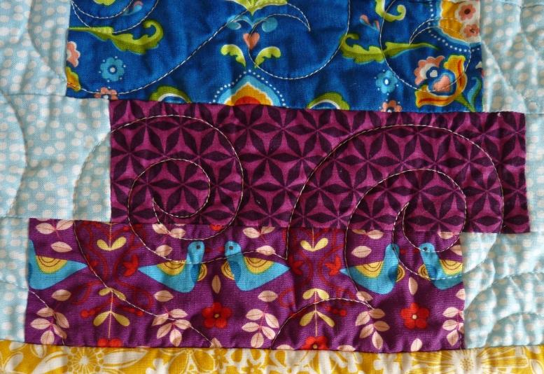 Purple fabrics