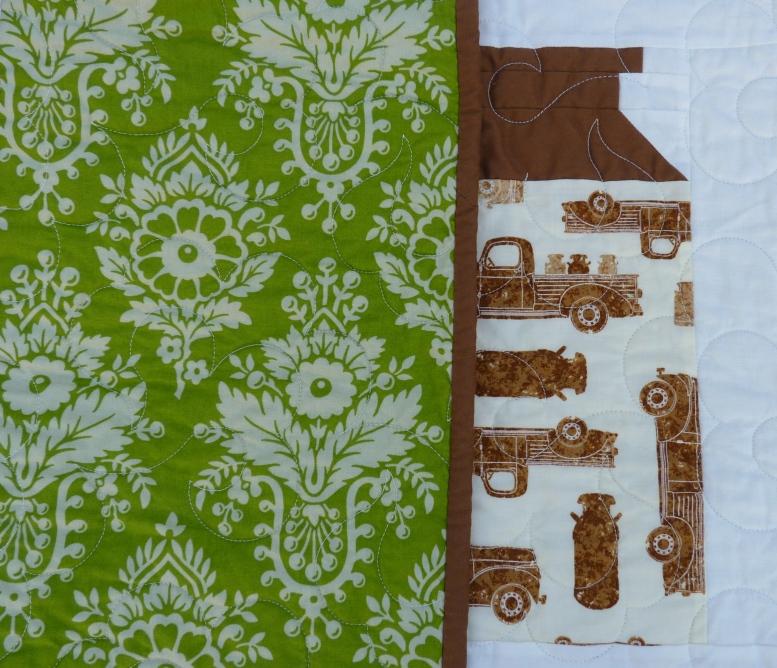 Milk Cow Kitchen patchwork quilt backing