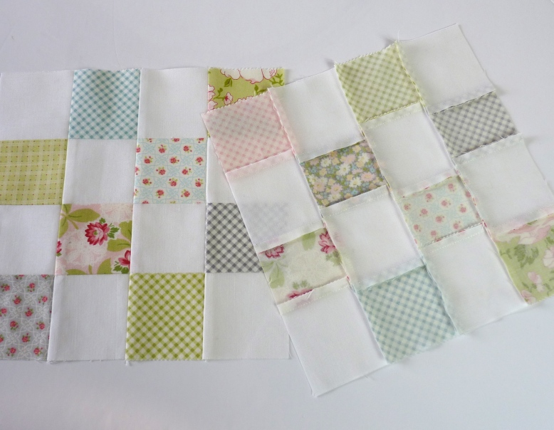 Ambleside checkerboard quilt blocks