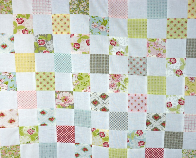 Ambleside checkerboard quilt top detail