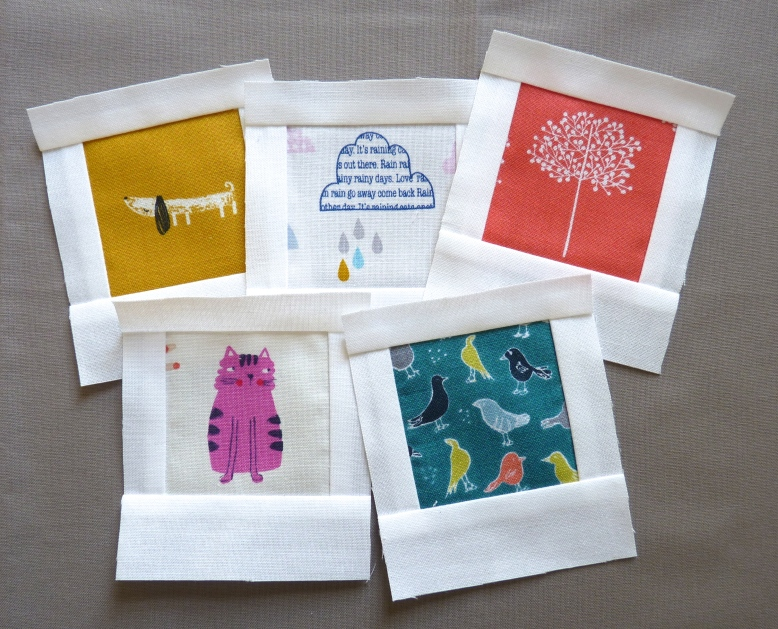 Polaroid quilt blocks in fabrics by Dashwood Studio and P&B Textiles designs