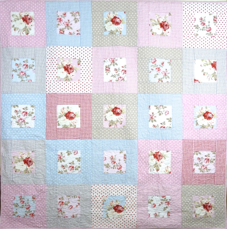 Shabby chic/country cottage style quilt