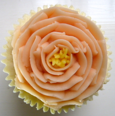 Swiss meringue buttercream open rose