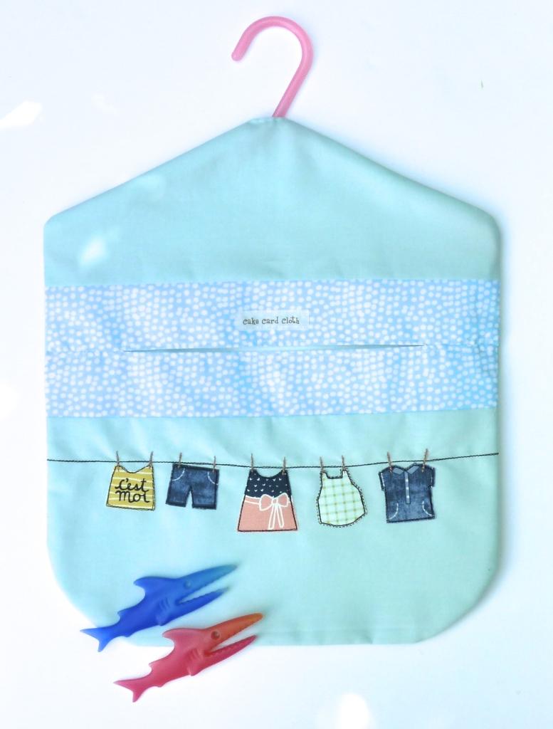 Lined peg bag