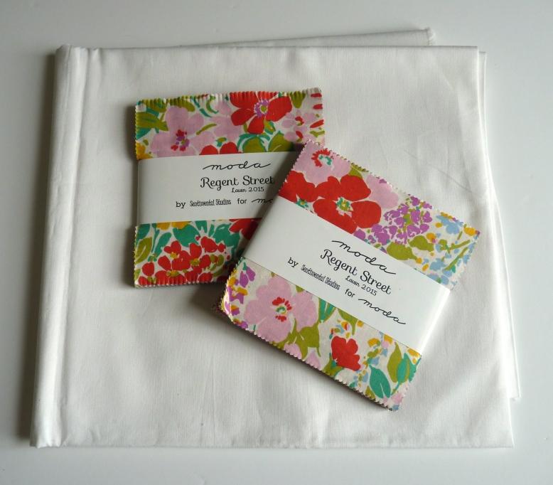 Fabrics for Regent Street charm quilt