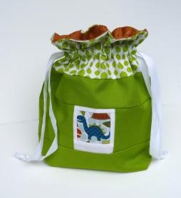 Dinosaur photo drawstring bag