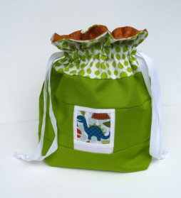 Dinosaur photo drawstring bag