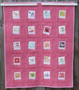 Baby girl photo quilt