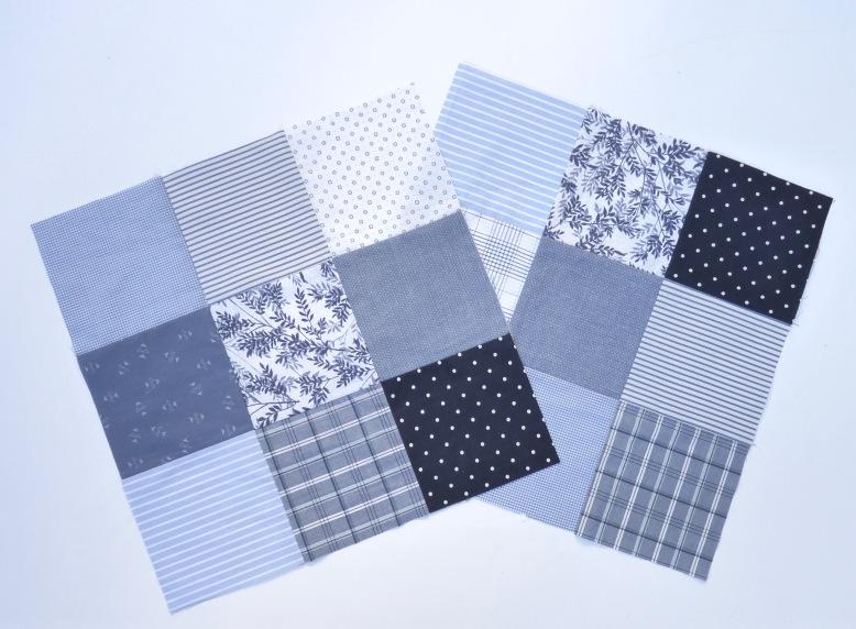 Blue and white shirt blocks