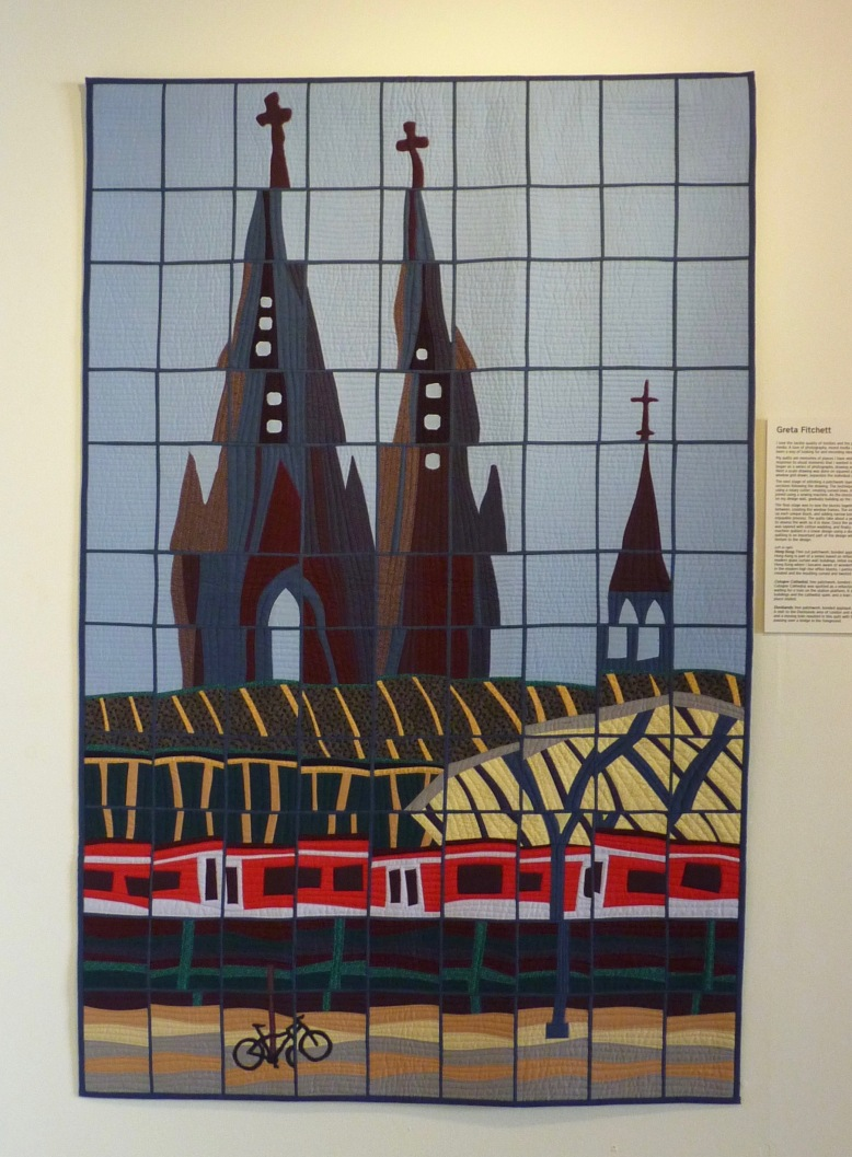 Cologne Cathedral quilt by Greta Fitchett - Rheged Gallery - New Quilting exhibition