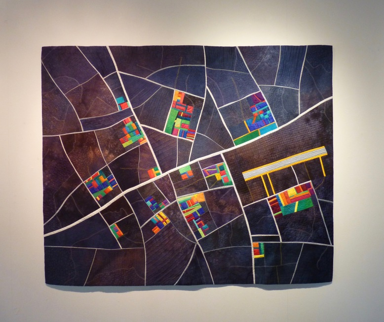Coming into Land quilt by Alicia Merrett - Rheged Gallery - New Quilting exhibition