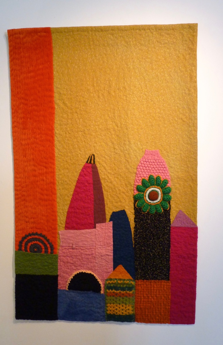 Sweet City quilt by Marita Lappalainen - Rheged Gallery - New Quilting exhibition