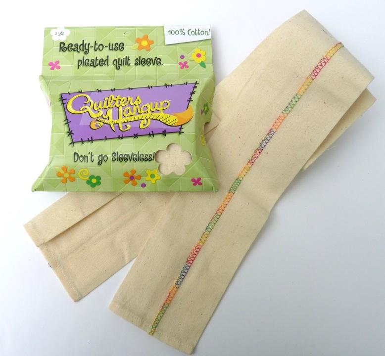 Pre-prepared quilt hanging sleeve