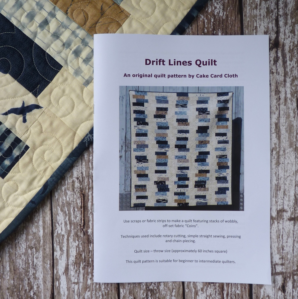 Drift Lines Quilt Pattern